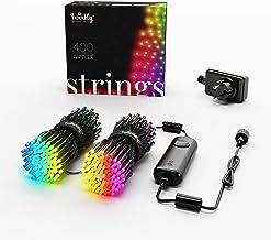 Twinkly App-Gecontroleerde Lichtslinger (32m) met 400 Meerkleurige RGB LEDS, Zwarte Kabel – LED-verlichting voor Binnen en...