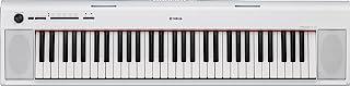 Yamaha NP-12 Piaggero - Teclado digital portátil sencillo y elegante con 61 teclas, para aficionados y principiantes, color blanco
