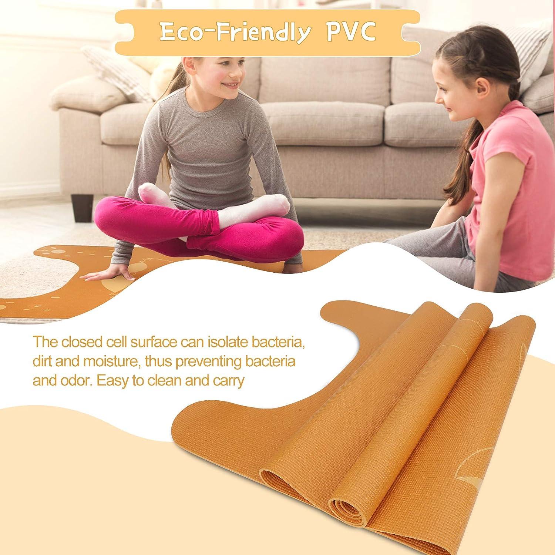 ideale per casa Borpein tappetino per pilates studio tappetino antiscivolo multiuso per fitness tappetino da yoga per bambini con stampa tappetino da yoga per bambini palestra