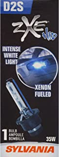 SYLVANIA - D2S SilverStar zXe HID (High Intensity Discharge) Headlight Bulb - High Performance Brighter and Whiter Light, Xenon Fueled, with a HID Attitude and Style (Contains 1 Bulb)