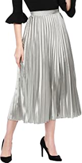 Best silver skirt pleated Reviews