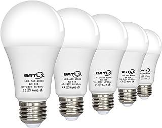 BRTLX LED電球 E26口金 60W形相当 9W 昼白色 6000k 広配光タイプ 省エネ90% 5個パック