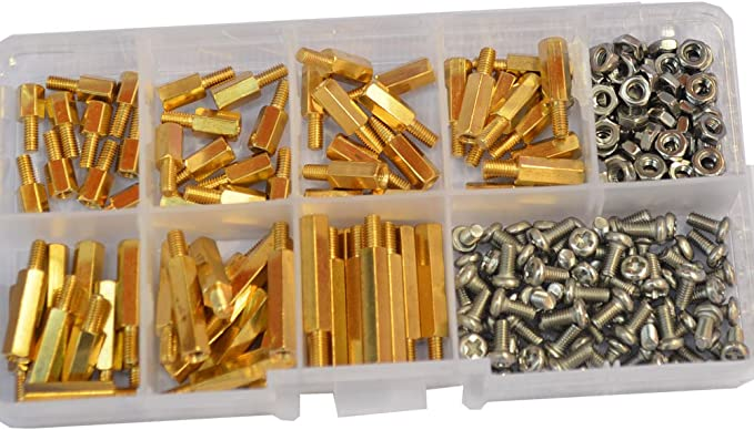 Ping.Feng 30Pcs M3L+6mm Hex Head Brass Spacer Nut Copper Insert Threaded Pillar PCB Computer Motherboard Female Male Standoff Screws Length : 8mm, Size : M3