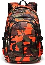orange camo bookbag