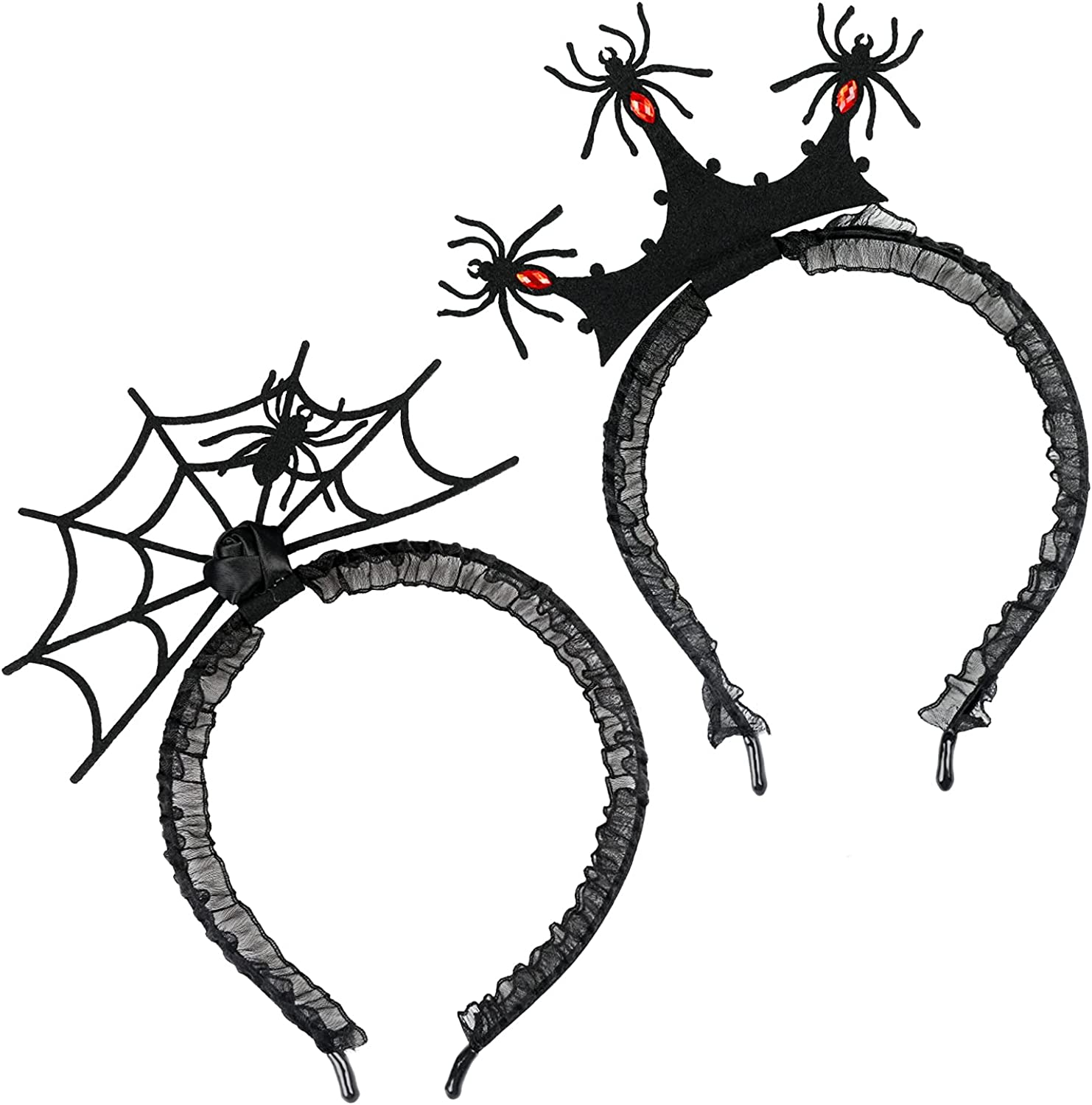 2 Pcs Halloween Spider Web Red Hair Di Fashionable Attention brand Hoop Headband