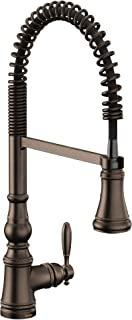 Moen S73104ORB Weymouth One-Handle Spring Pulldown Kitchen Faucet with Power Boost, Oil Rubbed Bronze