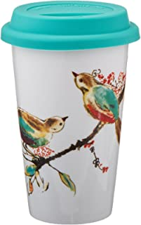 Lenox Double Wall Ceramic Chirp Thermal Travel Mug 10 OZ, White - 848511