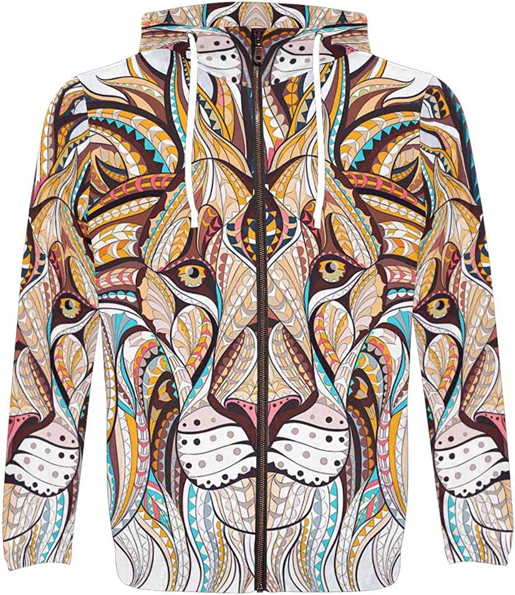 Max 71% OFF InterestPrint Long Sleeve Lightweight Hoodie with for Regular discount Pocket Men