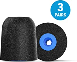 Comply Professional Noise Isolating Earphone Tips for NuForce, ISOtunes PRO, Q-Jays, Etymotic Research, Westone, Shure & More P-Series Memory Foam Replacement Earbud Tips (Large, 3-pairs)