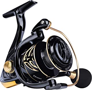 Sougayilang Spinning Reel,12+1 Stainless BB Fishing Reel,Ultra Smooth Powerful, Lightweight Graphite Frame, CNC Aluminum S...