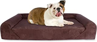 KOPEKS Deluxe Orthopedic Memory Foam Sofa Lounge Dog Bed - Large - Brown