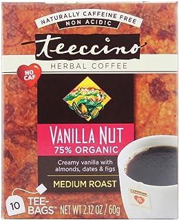 Teeccino, Tea Herbal Vanilla Nut, 10 Count