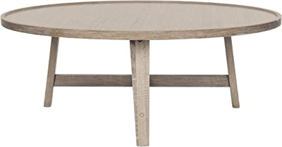 Safavieh Home Collection Malone Retro Mid-Century Light Oak and Brown Wood Coffee Table