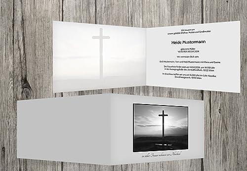 exclusivo Tarjeta de luto Cruz, hellesgris, 100 100 100 Karten  precios mas baratos
