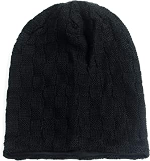 Rayna Fashion Unisex Beanie Hat Slouchy Knit Cap Skullcap Square Rectangular 1030