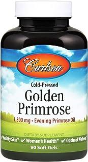 Carlson - Golden Primrose, 1300 mg Evening Primrose Oil, Cold-Pressed, Healthy Skin, Women's Health & Optimal Wellness, 90...