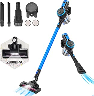 Aspiradora sin Cable, LTPAG 20Kpa 250W Aspiradora Escoba sin Cable 2 en 1 con Cepillo LED, Potente Motor sin Escobillas, c...