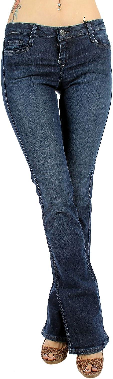 bluelab  Womens 8Pocket Bootcut Jeans in bluee