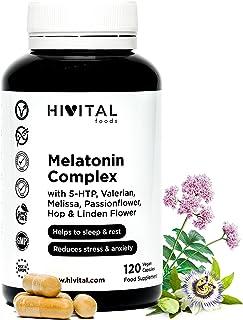 comprar comparacion Melatonina Complex | 120 cápsulas veganas para 4 meses | Con 5-HTP, Valeriana, Melisa, Pasiflora, Amapola Californiana, Lú...
