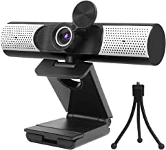 1080P Webcam with Microphone, Speaker & Privacy Cover. 2021 Upgraded FHD USB Webcam with Tripod, Plug and Play, for Video ...