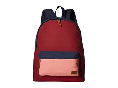 Roxy Sugar Baby Canvas Color Block Backpack (Oxblood Red) Backpack Bags
