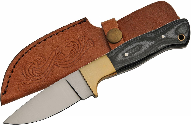 SZCO Miami Mall Bombing free shipping Supplies Black Pakkawood Hunting Skinning Knife