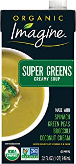 Imagine Organic Creamy Soup, Super Greens, 32 Oz (Pack of 12)