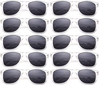 80's Classic Blue Brothers Horn Rimmed Style Retro Colors Packs Vintage Retro Sunglasses (10 PACK)