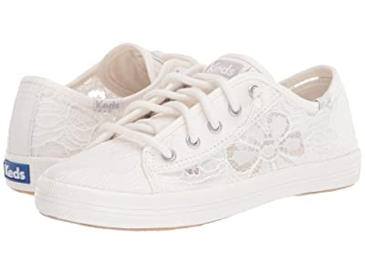 Keds Kids Kickstart Seasonal (Little Kid/Big Kid) (Festival Floral Ivory) Girl