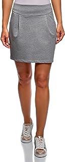 Mujer Falda de Punto con Cremallera
