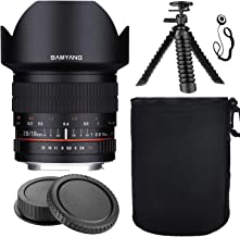 Samyang SY10M-MFT 10mm F2.8 Ultra Wide Angle Lens for Micro Four Thirds w/Lens Hood + Protective Lens Case, Spider Flex Tripod & Other Accessory Bundle
