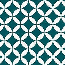 Tempaper Teal Terrazzo Star | Designer Removable Peel and Stick Wallpaper
