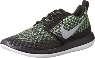 Nike Mens Roshe Two Flyknit 365 Low Top Lace Up Running, Black, Size 13.0