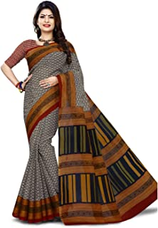Jevi Prints cotton with blouse piece Saree