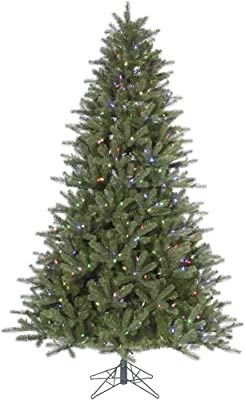 """Vickerman Kennedy Fir Artificial Christmas Tree with 450 Multi-Colored LED Lights, 6.5' x 46"""""""