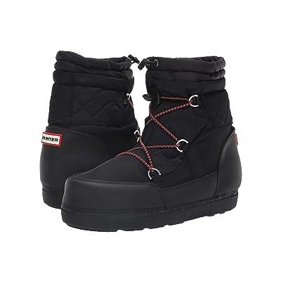 Hunter Original Short Quilted Snow Boots (Black) Women