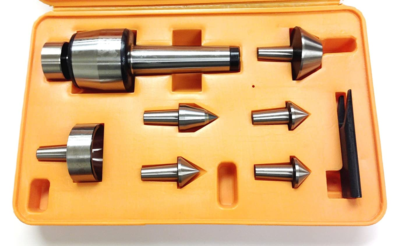 HHIP 3900-5022 7 Piece Multi-Shape Live Center Set, MT4 Morse Taper, 1200 lb. Thrust Load