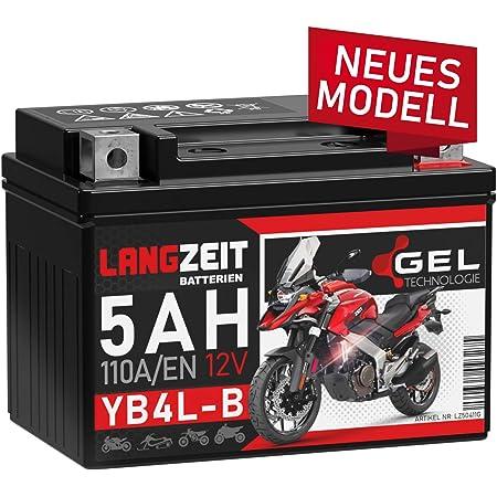 Roller Agm Batterie 12v 4ah Wartungsfrei Als Verstärkte Batterie Ytx4l Bs Mf Passend Für Viele Roller Auto