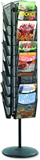Safco Products Onyx Mesh Rotating Magazine Stand, 5577BL, Black Powder Coat Finish, Durable Steel Mesh Construction, Rotates 360 Degrees