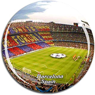 Weekino Spain Camp Nou Barcelona Fridge Magnet 3D Crystal Glass Tourist City Travel Souvenir Collection Gift Strong Refrigerator Sticker