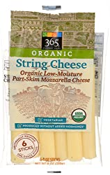 365 Everyday Value, Organic String Cheese (6 Pack), 6 oz
