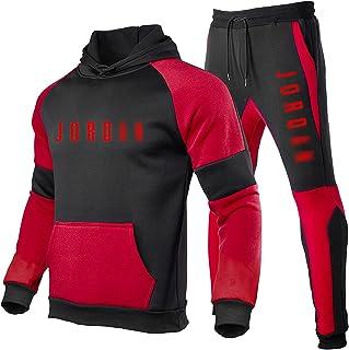 QXYJ Chicago Bulls Michael Jordan 23# Conjuntos con Capucha De Baloncesto, Traje Deportivo Informal para Hombre, Traje Dep...