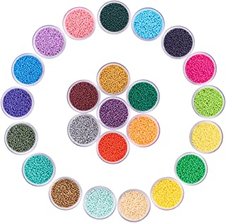 PH PandaHall Elite 24 Boxes Of About 40800 Pcs 13 0 Multicolor Beading Glass Seed Beads 24 Colors Opaque Round Pony Bead M...