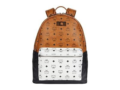 MCM Stark Visetos Mix Backpack 40 (Cognac) Backpack Bags