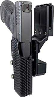 Professional Competition Holster OWB Kydex fits Glock 17; IPSC, USPSA, 3-Gun Approved, Adjustable in All Angles and Retention, Completely Legal in USPSA Production Division