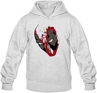 Tommery Men's Deadpool Tattoo Long Sleeve Sweatshirts Hoodie XXL