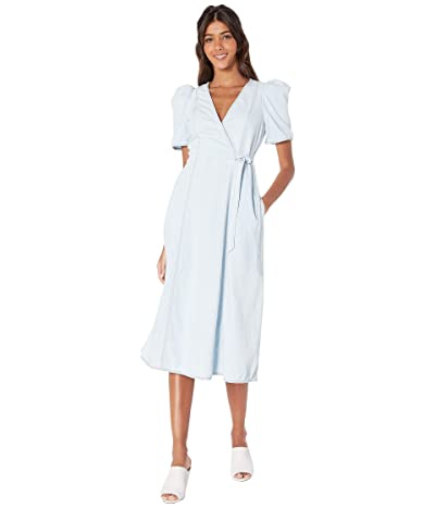 Kate Spade New York Denim Wrap Dress (Blotched Indigo) Women