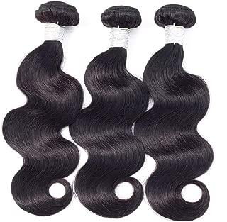 Kiss Beauty Brazilian Human Hair Body Wave 4 Bundles 8A Human Hair 100% Unprocessed Virgin Hair Natural Color(14 16 18 20)