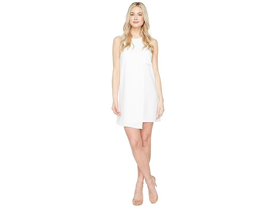 Karen Kane Asymmetric Shift Dress (Off-White) Women