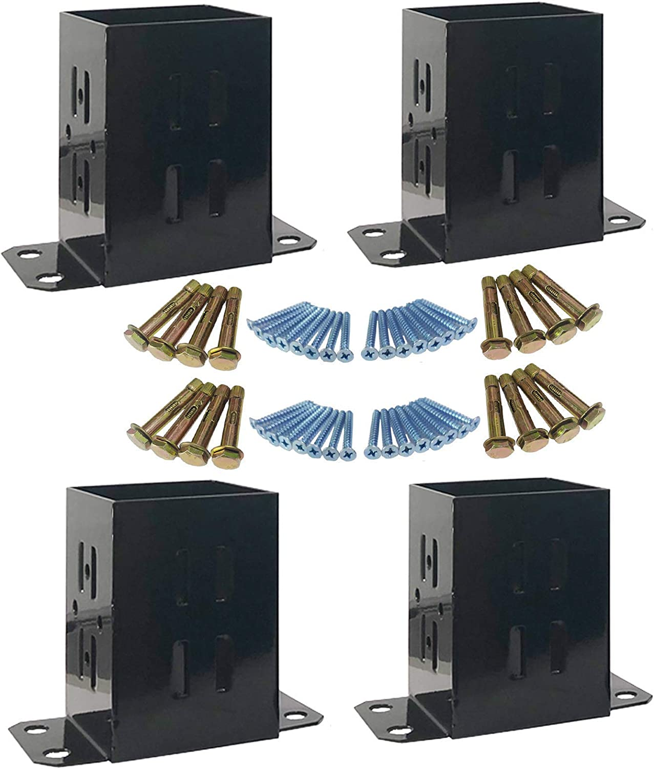 JH Discount is also underway 4x4 Wood Fence Post Brackets Powder-Coated Safety and trust Duty Base Heavy